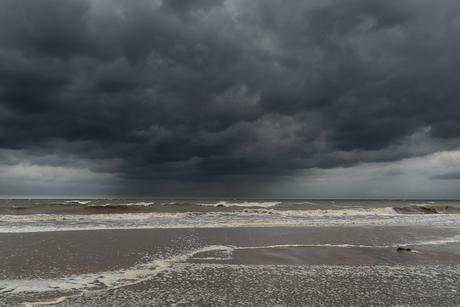 Storm aan de kust