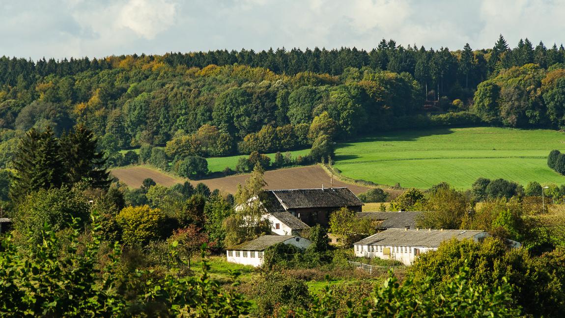 Boerderij - Limburg - foto door capture1 op 11-04-2021 - deze foto bevat: wolk, fabriek, lucht, boom, natuurlijk landschap, huis, hoogland, land veel, gebouw, biome