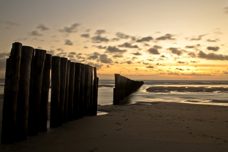 zonsondergang in Westenschouwen