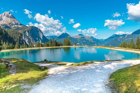 Ehrwalder Almsee in Oostenrijk