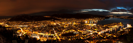 bergen by night panorama 2