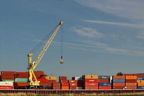 Containeropslag.