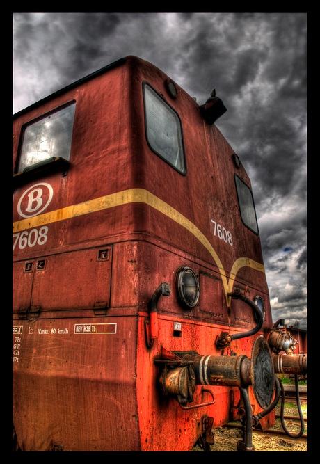 Oud treinstel in HDR