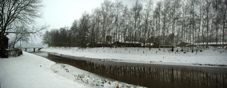 Pano Dordrecht sneeuw