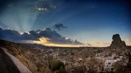 Cappadocië bij zonsondergang