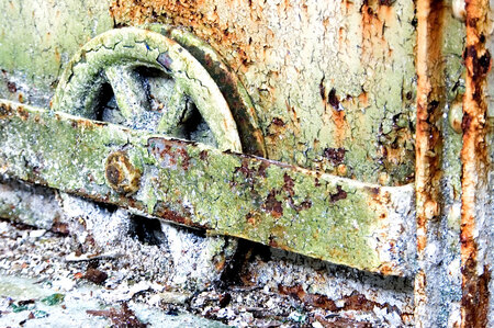 rust roest - Overlaatst naar een verlaten pakhuis geweest, hier een detailopname - foto door kv1 op 07-02-2011 - deze foto bevat: pakhuis