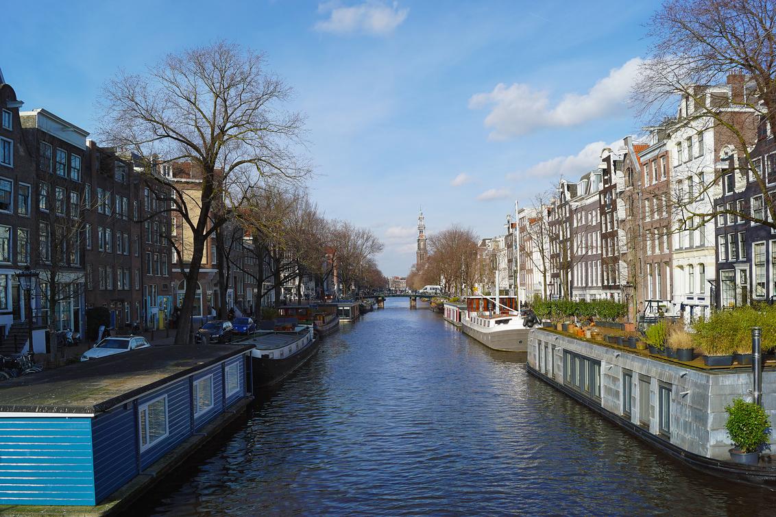 Gracht in Amsterdam - - - foto door hzeilstra op 02-03-2021