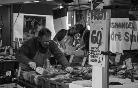 Feest op de Groninger vismarkt