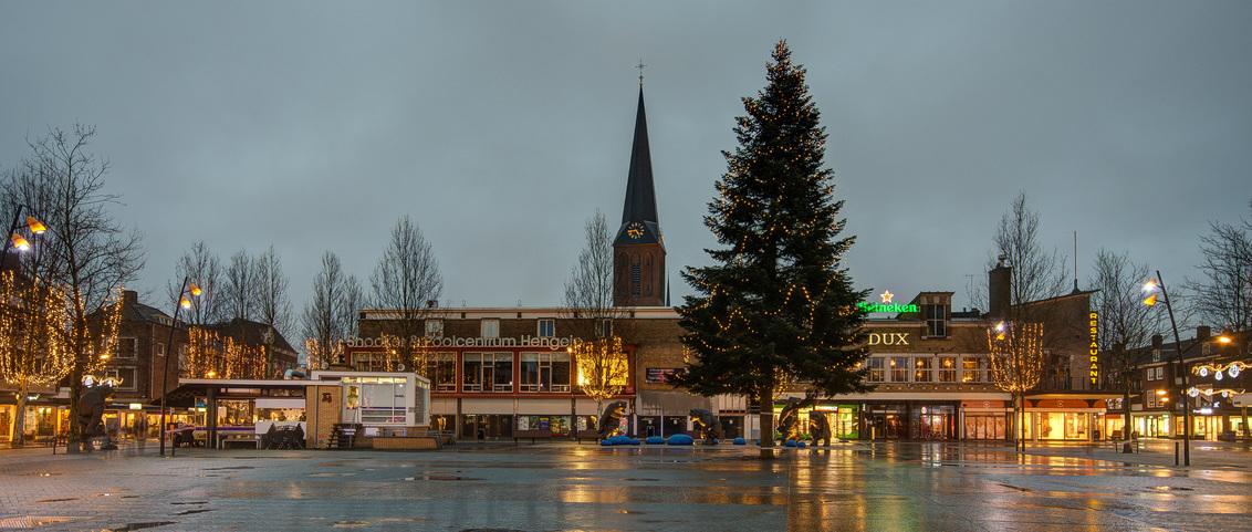 Hengelo - Markt - Hengelo - Markt - foto door mdwaard op 26-01-2018 - deze foto bevat: nachtfotografie, twente, hengelo, avondfotografie, lambertuskerk