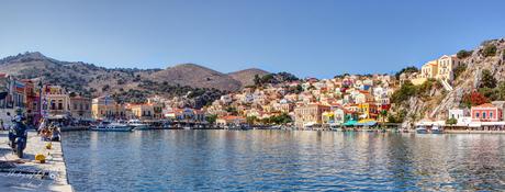 Panorama van het eilandje Simy