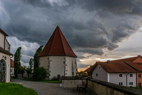 onweer in Kellberg aan de Donau