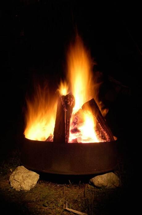 Campfire by night