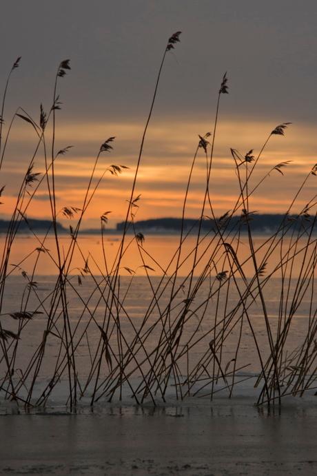 Zonsondergang bij Saaroniemi