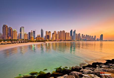 The skyline of Dubai