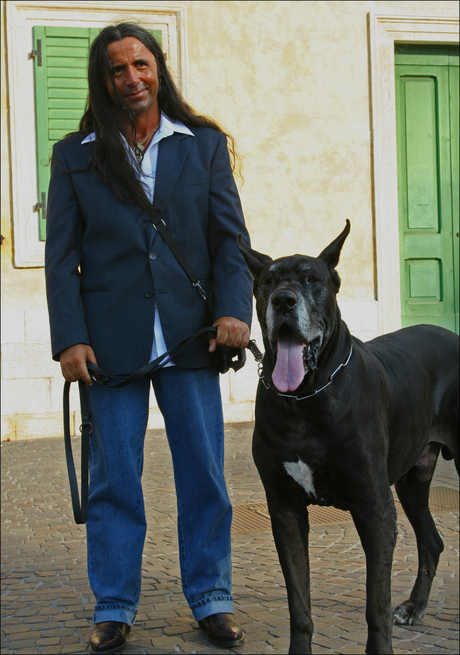 man and his (big) dog