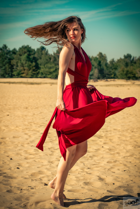 Sand dancing...