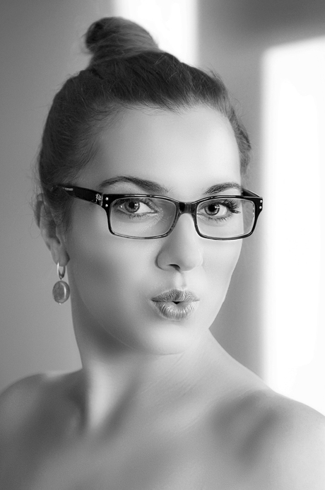 Portret met bril