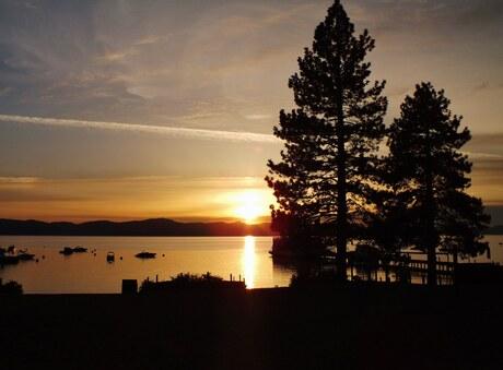 Zonsondergang in Lake Tahoe, NV