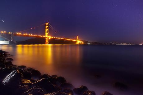 Golden Gate Bridge Star Trails