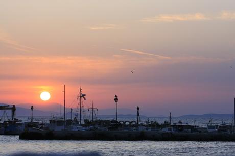 Sunset Aegina Greece
