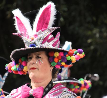 DSC_1243 Karneval. - Het feest kan weer beginnen. prachtig om te zien. - foto door edu-1 op 15-02-2020 - deze foto bevat: fashion, expressie, makeup, karneval