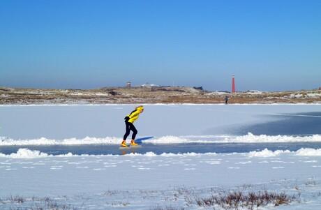 schaatsen in de duinen