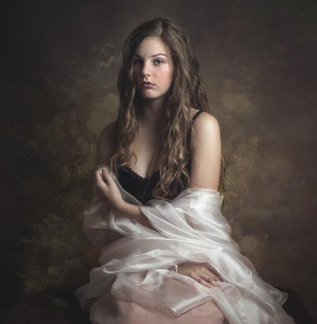 Caitlin - - - foto door anjavast op 27-02-2021 - deze foto bevat: vrouw, mensen, portret, model, flits, haar, studio, fotoshoot, flitser, fineart
