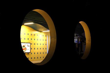 station Blaak - station Blaak - foto door sanane op 28-10-2009 - deze foto bevat: station, cirkels, blaak