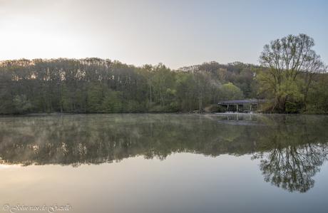 Cranenweyer zonsopkomst op een mooie lente ochtend