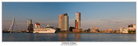 Celebrity Eclipse in Rotterdam (panorama)