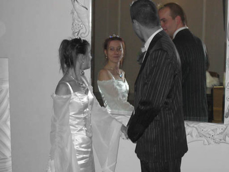 Bewerkte trouwfoto