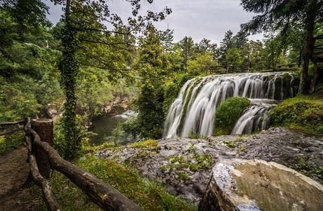 Waterval in Rastoke, Kroatië