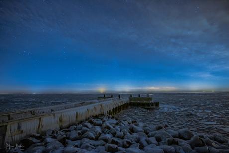 Afsluitdijk ... Winter wonder land.onder de sterren