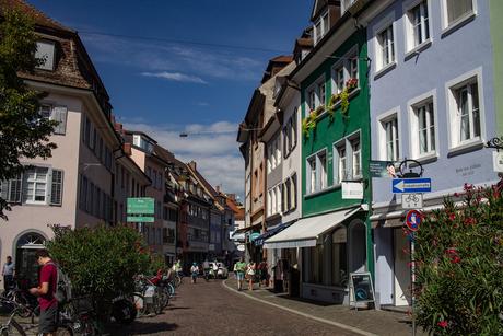 De straten van Freiburg