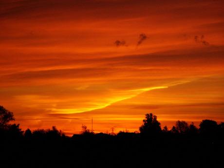 Dramatische zonsopkomst