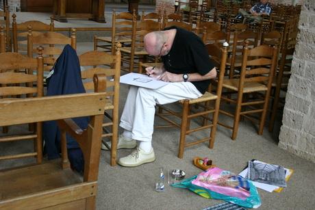 Kerk tekenaar