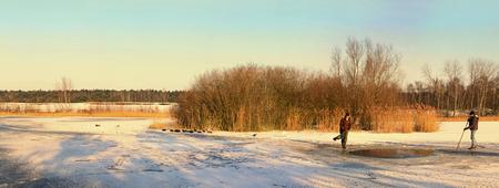 Vogelbescherming in de Sahara - Aanvulling bij de vorige upload een panorama gemaakt uit 8 vertikale fotos. Rond 10 h 's ochtends gemaakt met behulp van het warme ochtendlicht in de - foto door kosmopol op 08-02-2012 - deze foto bevat: winter, lommel, wak, kosmopol, natuurbeschermers