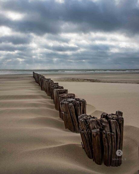 palen strand hollum ameland