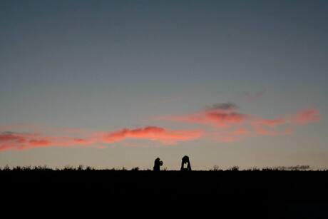 Afsluitdijk met Steenlegger