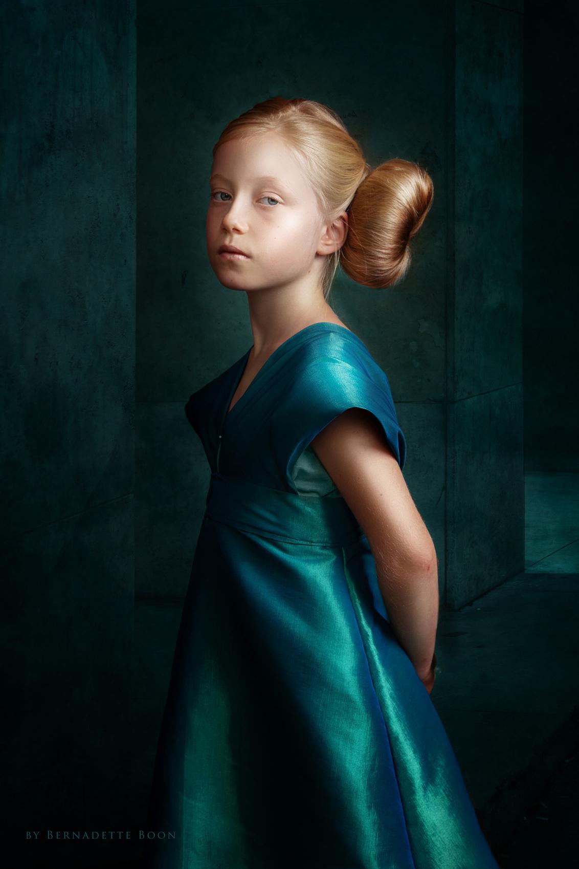 Mikki - Mikki - foto door bernadetteboon op 08-08-2019 - deze foto bevat: blauw, golden, blue, art, schilderij, girl, blond, child, age, fine, painting, fineart, Gouden Eeuw, golden age