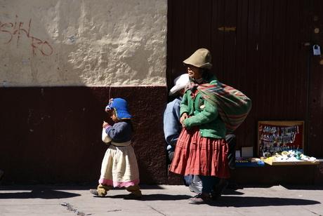 moeder en kind in Peru