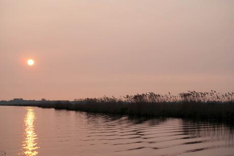 Ilperveld bij zonsondergang