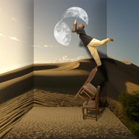 Als de maan het begeeft
