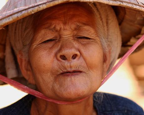 Vrouw in Cambodja