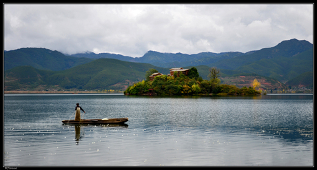 Visser op Lugu lake