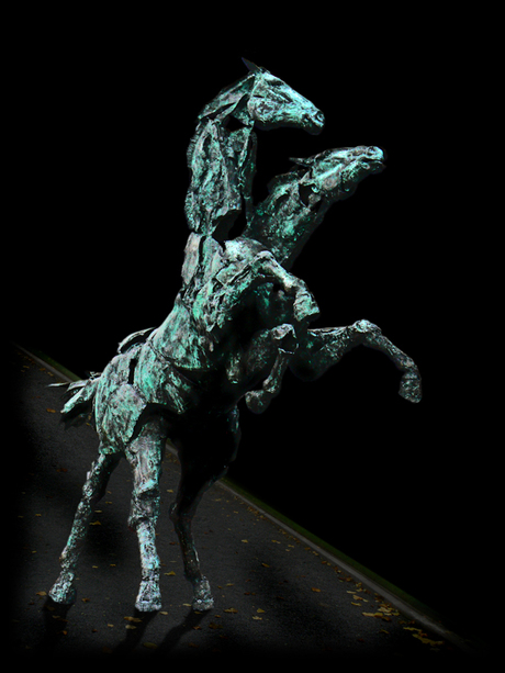Bronzen paard
