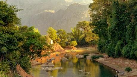 Zonsopgang Laos
