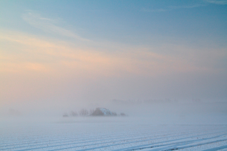 magical winter morning
