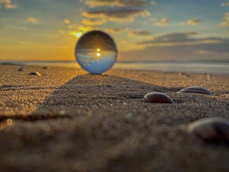 Glassball sunset