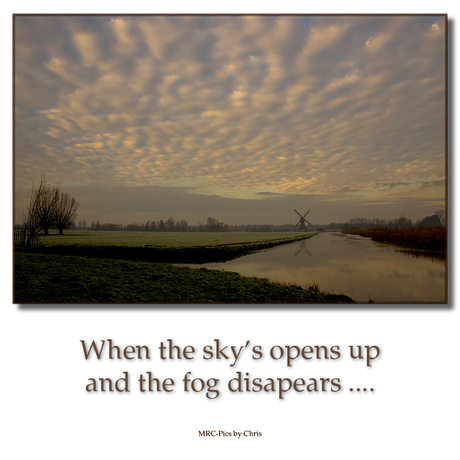When the sky's opens up ......